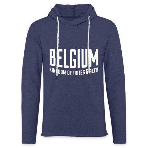Belgium kingdom of frites & beer - Sweat-shirt à capuche léger unisexe