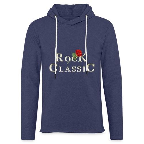 Rock Classic Rose - Leichtes Kapuzensweatshirt Unisex