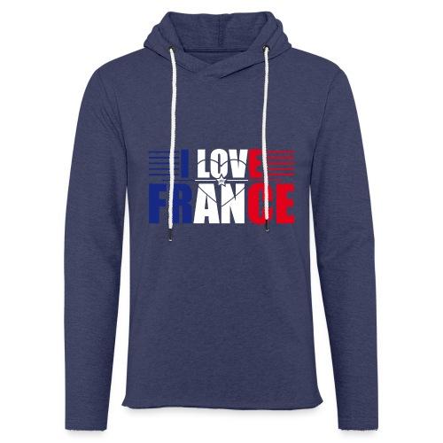 love france - Sweat-shirt à capuche léger unisexe