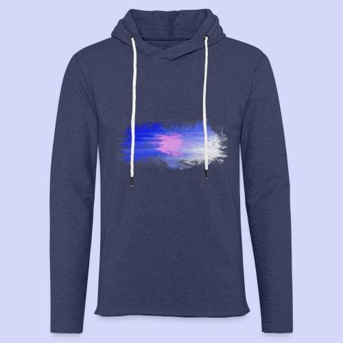Blue lights - Female shirt - Let sweatshirt med hætte, unisex