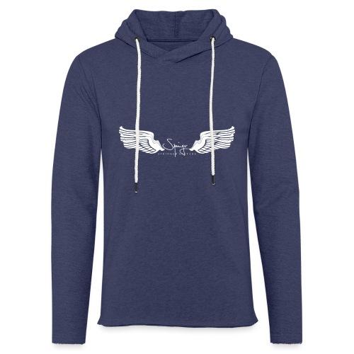 Seraph Wings white - Sweat-shirt à capuche léger unisexe