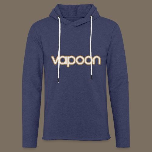 Vapoon Logo simpel 2 Farb - Leichtes Kapuzensweatshirt Unisex