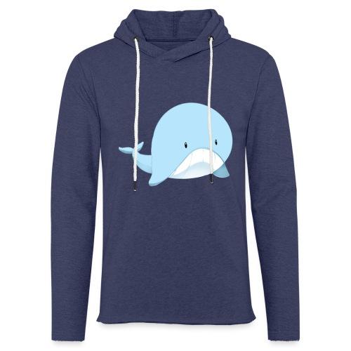 Whale - Felpa con cappuccio leggera unisex
