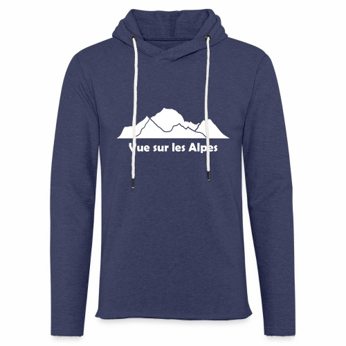 Vue sur les Alpes - Sweat-shirt à capuche léger unisexe
