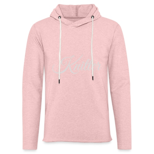 Knitter, light gray - Light Unisex Sweatshirt Hoodie