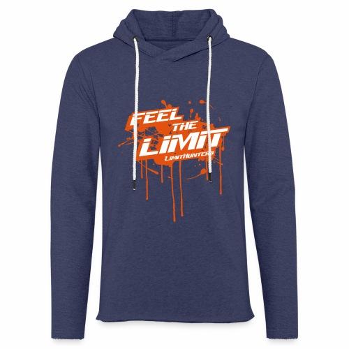 Feel the Limit - Limithunters Orange - Leichtes Kapuzensweatshirt Unisex