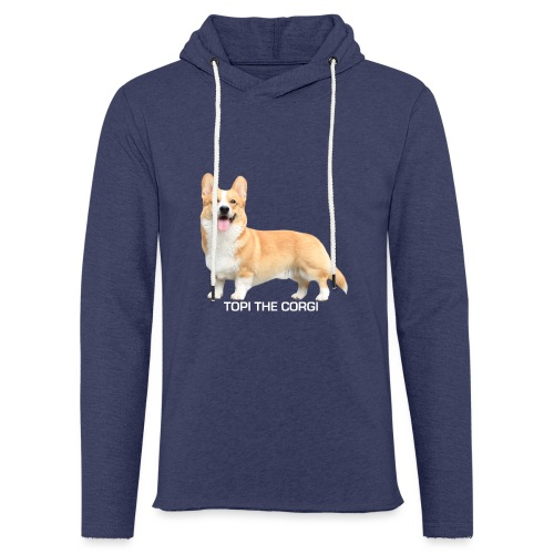 Topi the Corgi - White text - Light Unisex Sweatshirt Hoodie