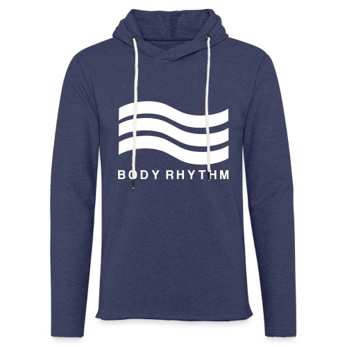 Body Rhythm Official Logo White - Light Unisex Sweatshirt Hoodie