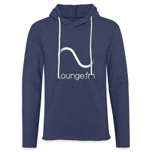 loungefm logo weiss - Leichtes Kapuzensweatshirt Unisex