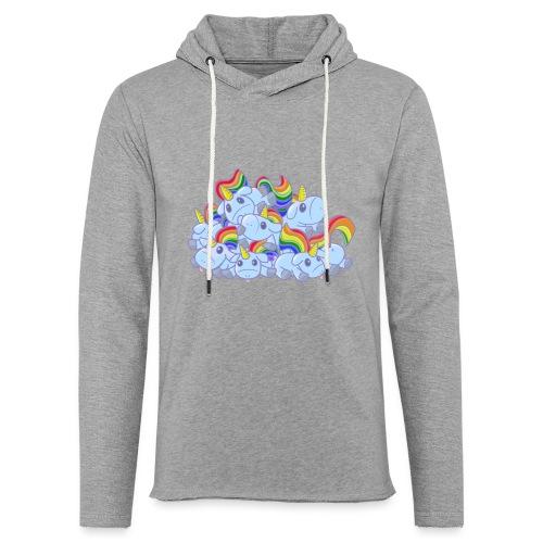 Moar unicorns! - Felpa con cappuccio leggera unisex