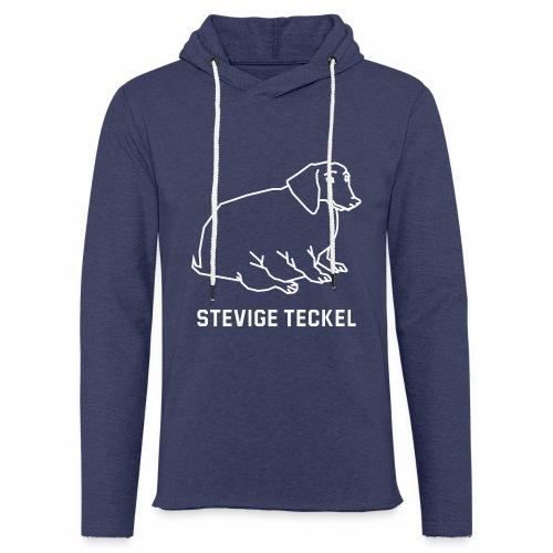 Stevige Teckel - Lichte hoodie unisex