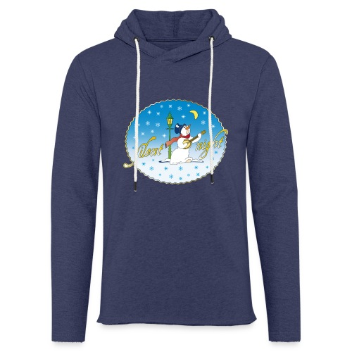Silent Night Schneemann Mond Laterne xmas - Light Unisex Sweatshirt Hoodie