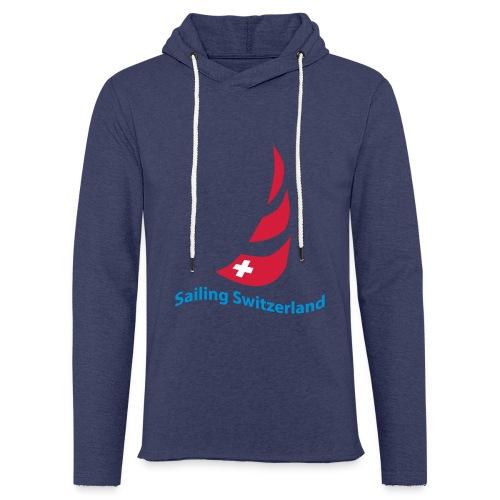 logo sailing switzerland - Leichtes Kapuzensweatshirt Unisex