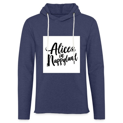Alice in Nappyland Typography Black 1080 1 - Light Unisex Sweatshirt Hoodie