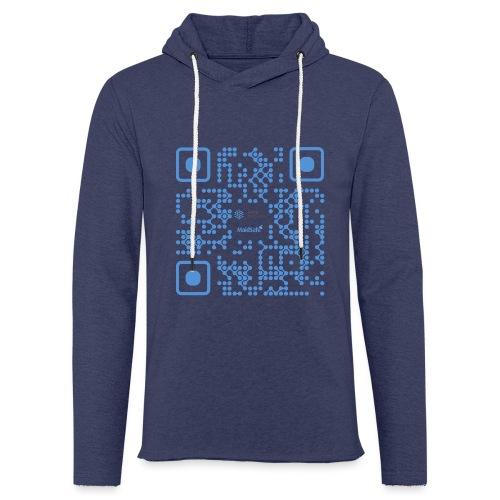 QR Maidsafe.net - Light Unisex Sweatshirt Hoodie