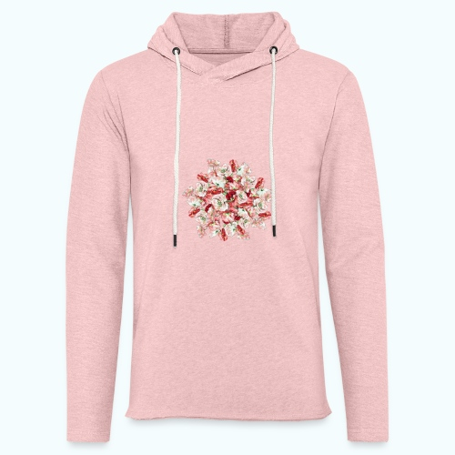 Hippie Aquarell Blumen - Light Unisex Sweatshirt Hoodie