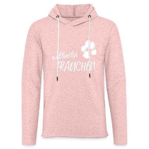 Vorschau: weltbestes Frauchen Pfote Hund - Leichtes Kapuzensweatshirt Unisex