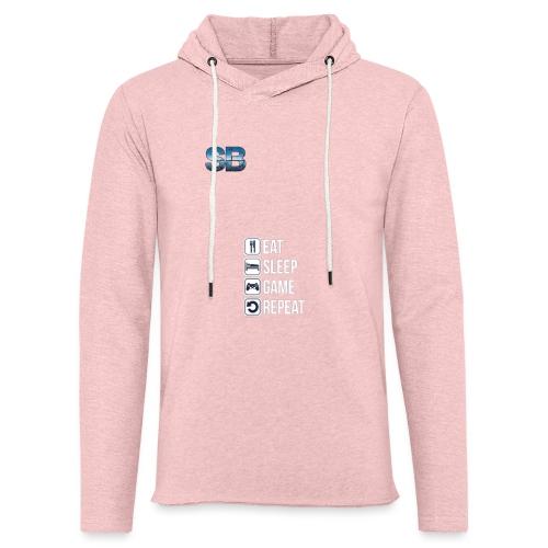 Eat Sleep Game Repeat - Let sweatshirt med hætte, unisex