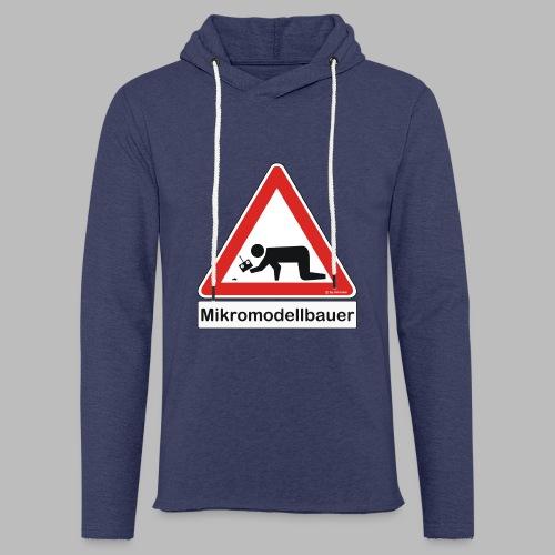 Warnschild Mikromodellbauer Auto - Leichtes Kapuzensweatshirt Unisex
