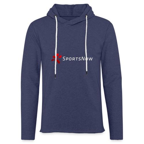 SportsNow-Logo mit weisser Schrift - Leichtes Kapuzensweatshirt Unisex