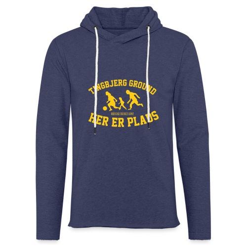 Tingbjerg Ground - her er plads - Let sweatshirt med hætte, unisex