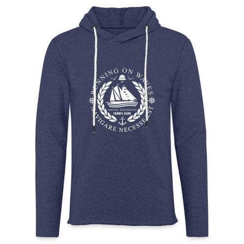 RUNNING ON WAVES (white) - Light Unisex Sweatshirt Hoodie
