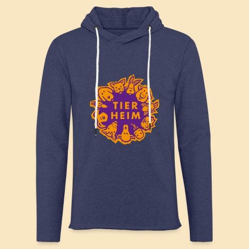 Tierheim Logo orangelila - Leichtes Kapuzensweatshirt Unisex