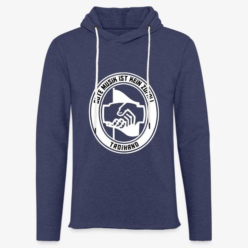 Logo Troihand invertiert - Leichtes Kapuzensweatshirt Unisex