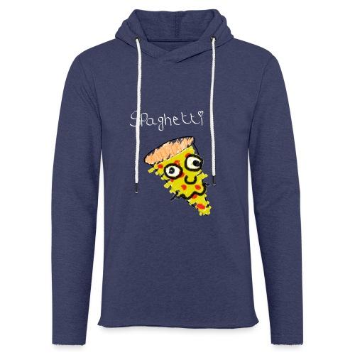 spaghetti (witte tekst) - Lichte hoodie unisex