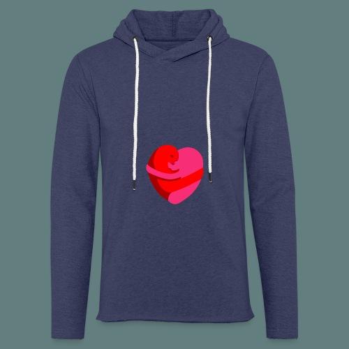 hearts hug - Felpa con cappuccio leggera unisex