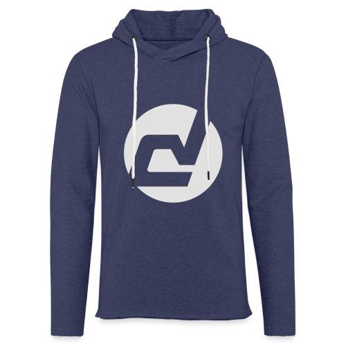 logo blanc - Sweat-shirt à capuche léger unisexe