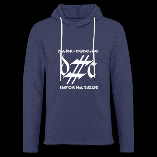Dark-Code Gothic Logo - Sweat-shirt à capuche léger unisexe