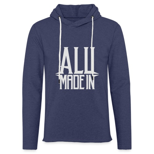logo_alumadein_vecto_blan - Sweat-shirt à capuche léger unisexe