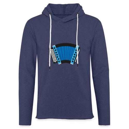 Schwyzerörgeli schwarz/blau - Leichtes Kapuzensweatshirt Unisex