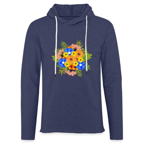Blue Flower Arragement - Light Unisex Sweatshirt Hoodie