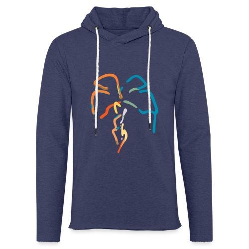 Farverig palme - Let sweatshirt med hætte, unisex