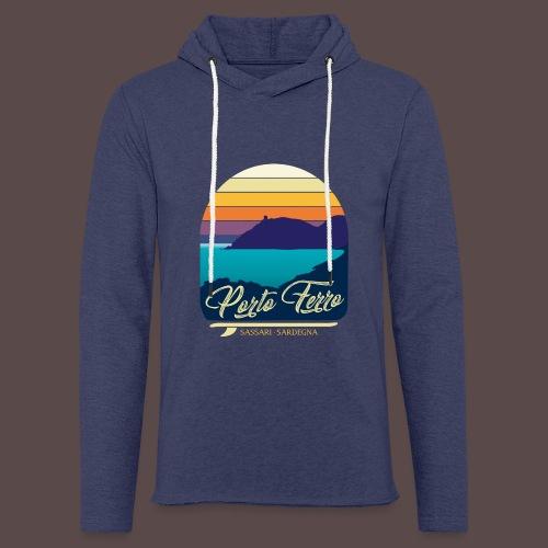Porto Ferro - Vintage travel sunset - Felpa con cappuccio leggera unisex