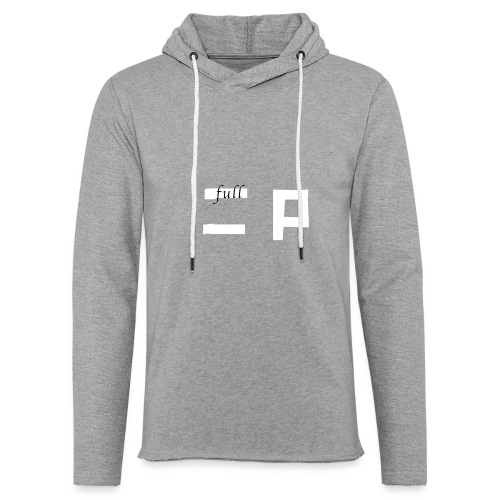 full p one - Let sweatshirt med hætte, unisex