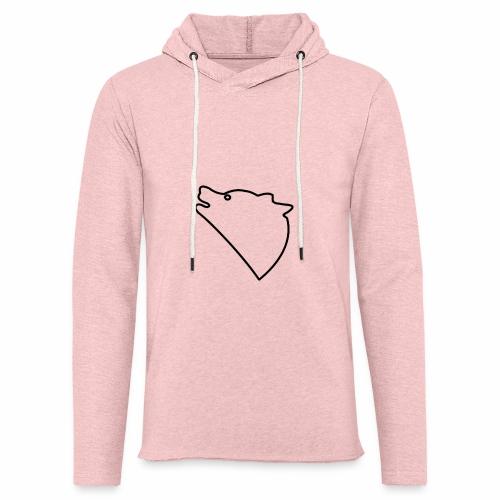 Wolf baul logo - Lichte hoodie unisex