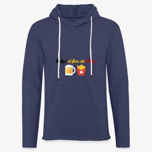 Belge et fier de l'être - Sweat-shirt à capuche léger unisexe