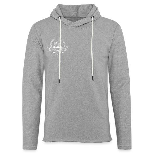 hvid logo på brystet eller ryggen - Let sweatshirt med hætte, unisex