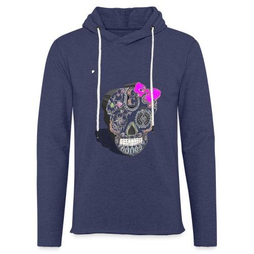 Tête de mort mexicaine 3D - Sweat-shirt à capuche léger unisexe