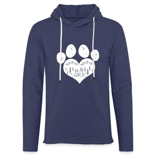 Vorschau: dog girl outdoor pawheart - Leichtes Kapuzensweatshirt Unisex