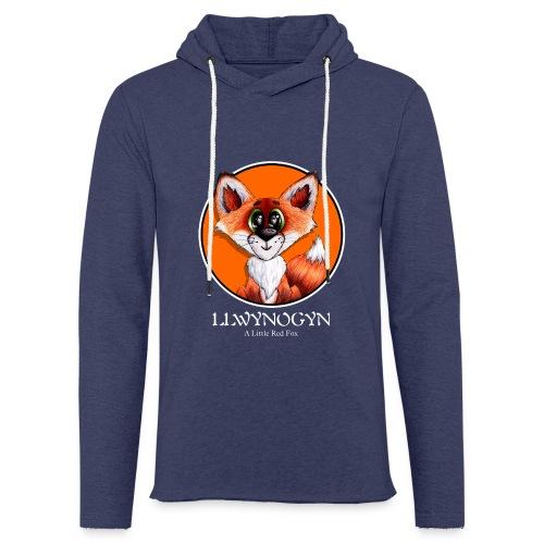 llwynogyn - a little red fox (white) - Kevyt unisex-huppari