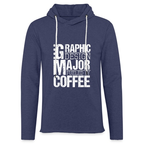 Graphic Design Major Fueled By Coffee - Leichtes Kapuzensweatshirt Unisex