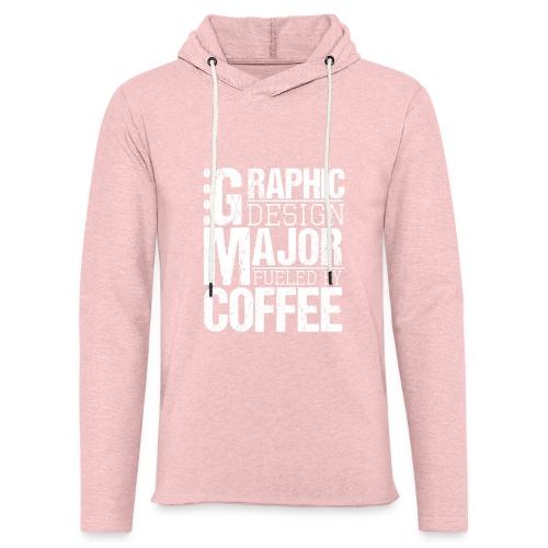 Graphic Design Major Fueled By Coffee - Leichtes Kapuzensweatshirt Unisex