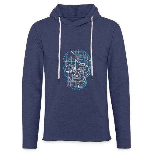 electric skull tshirt ✅ - Leichtes Kapuzensweatshirt Unisex