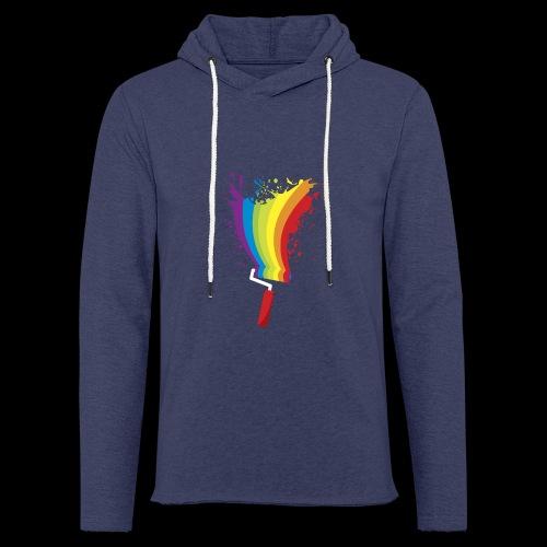 Paint roller Vivid Color - Leichtes Kapuzensweatshirt Unisex