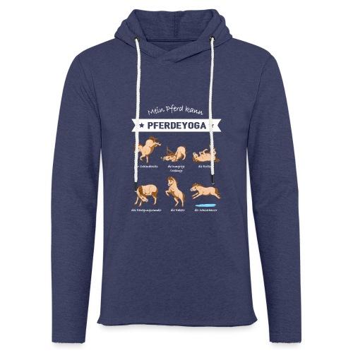 Pferdeyoga - Leichtes Kapuzensweatshirt Unisex