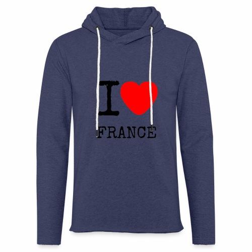 I Love France - Sweat-shirt à capuche léger unisexe